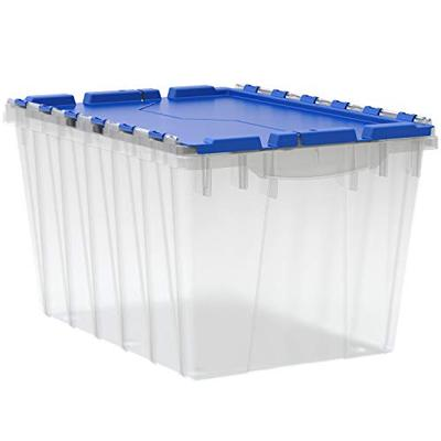 Akro-Mils 66486CLDBL 12-Gallon Plastic Storage KeepBox with Attached Lid, 21-1/2-Inch by 15-Inch by 12-1/2-Inch, Semi Clear