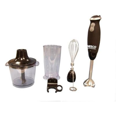 Nesco HB-17 Professional Grip 'n Go Immersion Handheld Blender with Attachments