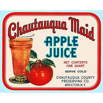 Posterazzi PDX376058LARGE Chautauqua Maid Apple Juice Photo Print, 36 x 24, Multi