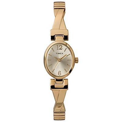 Timex Women's TW2U12000 Fashion Stretch Bangle 21mm Gold-Tone Expansion Band Watch