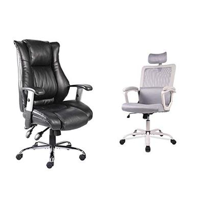 Office Chair Ergonomic Computer Bonded Leather Adjustable Desk Chair, Swivel Comfortable Rolling, Black & Office Chair, Mesh Office Chair, Ergonomic Office Desk Chair Computer Task Chair