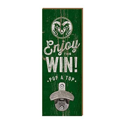 NCAA Legacy Colorado State Rams Wall Mount Bottle Opener 3.5x12, One Size, Wood