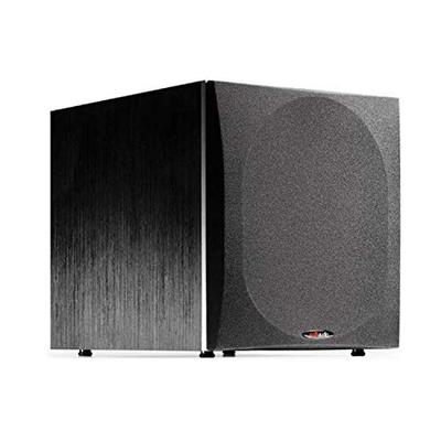 "Polk Audio PSW505 12"" Powered Subwoofer - Deep Bass Impact & Distortion-Free Sound, Up to 460 Watts, Easy Integration with Home Theater Systems , BLACK"