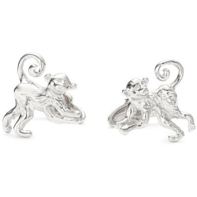 "ROTENIER ""Novelty"" Sterling Silver Spider Monkey and Banana Cufflinks"