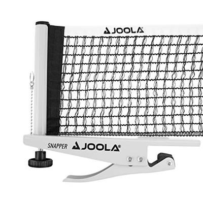 "JOOLA Snapper Professional Table Tennis Net and Post Set with Carrying Case - Portable and Easy Setup 72"" Regulation Size Ping Pong Spring Activated Clamp Net"