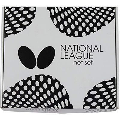 Butterfly National League Table Tennis Net Set – National League Net Fits Table Tennis Tables up to 1.75 inches Thick – Length of The Net Set is 72 inches, Black