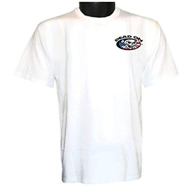 Dead On DSTUSAL USA Cotton T-Shirt Color: White (LARGE)