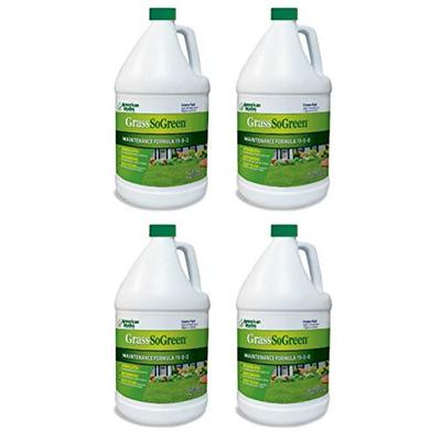 Pro Products American Hydro Systems 2655 GrassSoGreen Liquid Fertilizer Maintenance Formula 19-0-0, 1 Gallon, 4 Pack, 512 Fl Oz