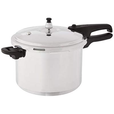 Mirro 92180A Polished Aluminum 10-PSI Pressure Cooker Cookware, 8-Quart, Silver -