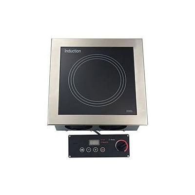 "Tarrison DI-35-1 Stainless Steel Built-In 15"" Induction Range with Wok and 1-Zone Cooking Hob, Rotary/Touch Key Power Control, 208V, 3000W, 14.5 Amps"