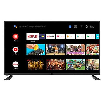 Skyworth 42S3G Inch Premium 1080P HD LED Television Quad-CORE Android TV Smart with Smart Remote, Google Assistant, Chromecast, Smart TV, Android TV