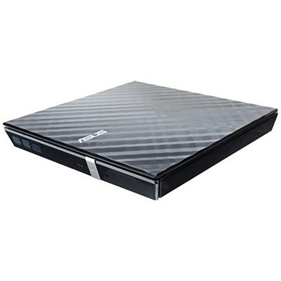 ASUS ASUS LITE Portable USB 2.0 Slim 8X DVD/ Burner +/- Rewriter External Drive, Compatible with both Mac & Windows, Black (SDRW-08D2S-U/BLK/G/AS)