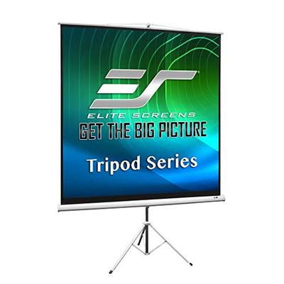 Elite Screens Tripod Series, 99-INCH 1:1, Adjustable Multi Aspect Ratio Portable Indoor Outdoor Projector Screen, 8K / 4K Ultra HD 3D Ready, 2-Year Warranty, T99NWS1, White