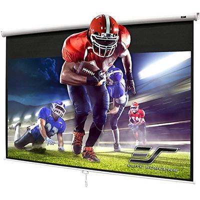 Elite Screens Manual Series, 100-INCH 4:3, Pull Down Manual Projector Screen with AUTO LOCK, Movie Home Theater 8K / 4K Ultra HD 3D Ready, 2-YEAR WARRANTY, M100NWV1