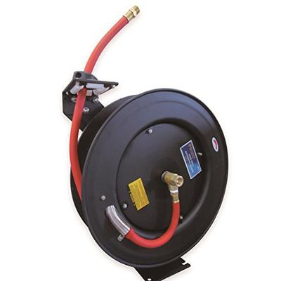 Astro 3688 Auto-Rewind Air Hose Reel with 3/8-Inch by 50-Feet Air Hose