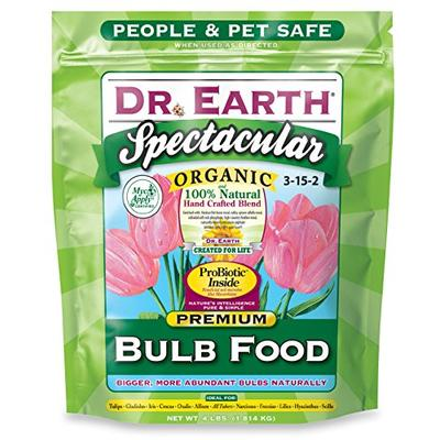 Dr. Earth 700P Organic 1 Bulb Fertilizer in Poly Bag, 4-Pound,Multi