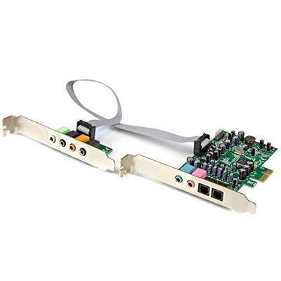 StarTech.com 7.1 Channel Sound Card - PCI Express - 24-bit - 192KHz - SPDIF Digital Optical and 3.5mm Analog Audio (PEXSOUND7CH)