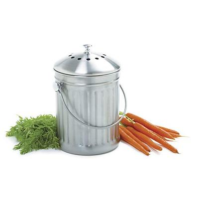 Norpro 1 Gallon Stainless Steel Compost Keeper, Silver