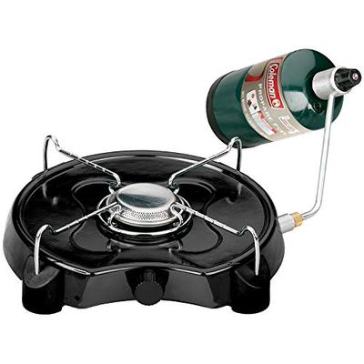 "Coleman PowerPack Propane Stove, Single Burner, Coleman Green - 2000020931, 4"" H x 13.38"" W x 12.5"" L"