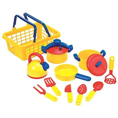 Educational Insights Pots 'N' Pans Set, Kitchen Toys, Pretend Kitchen Set, Set of 13, Ages 3+