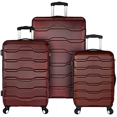 Elite Luggage Omni Hardside Spinner Luggage Set, Red, 3-Piece