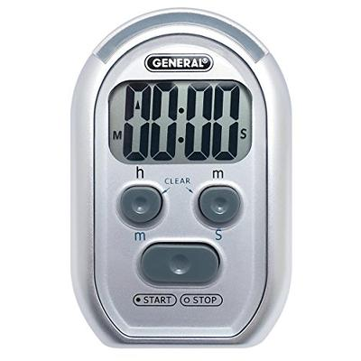 General Tools TI150 3-in-1 Kitchen Timer - for Visually/Hearing Impaired, Loud Environments and Classrooms (Red Flasher, Loud Beeper, Vibration)