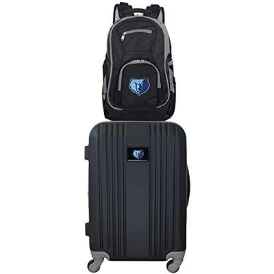 Denco NBA Memphis Grizzlies 2-Piece Luggage Set2-Piece Luggage Set, Black, 21