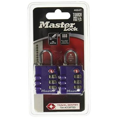 Master Lock 4684T TSA-Accepted Lock Assorted Colors, 2-Pack