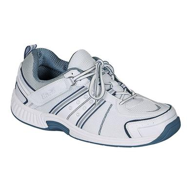 #1 Comfortable Plantar Fasciitis Athletic Shoes with Arch Support Walking Shoes for Men | OrthoFeet, 13 / Extra Wide / White