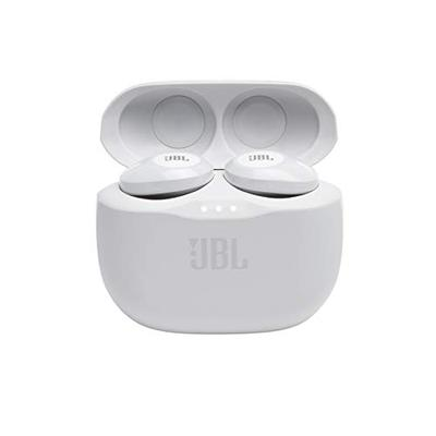 JBL Tune 125TWS True Wireless In-Ear Headphones - JBL Pure Bass Sound, 32H Battery, Bluetooth, Fast Pair, Comfortable, Wireless Calls, Music, Native Voice Assistant, Android and iOs Compatible (White)