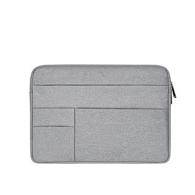Oxford Cloth Water Repellent Laptop Sleeve Case Bag Cover with Pocket Compatible 13-13.3 Inch MacBook Pro/Air, Multi-Object Bag, Large Capacity, Gray (Laptop Bag)