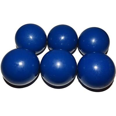 Mylec Cold Weather No Bounce Hockey Balls, Blue (Pack of 6)