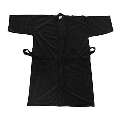 Canyon Rose Cloud 9 Men's Plush Microfiber Spa Robe, Kimono Style Wrap, 3/4 length Sleeves, Side Pockets, Waist Belt with Bi-level Loops, Machine Washable, 52 inch length, Black Sea, XL