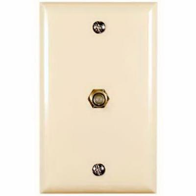 Audiovox VH62R Single Coaxial Wall Plate (Beige)