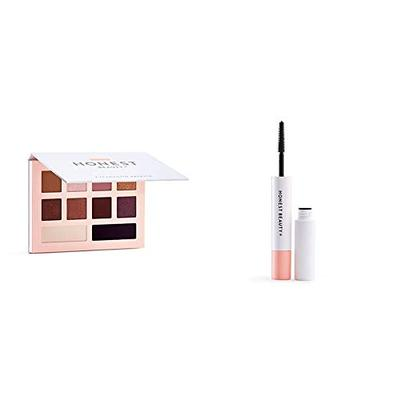 Honest Beauty Eyeshadow Palette with 10 Pigment-Rich Shades, 0.67 oz. and Honest Beauty Extreme Length Mascara + Lash Primer | 2-in-1 Boosts Lash Length, Volume & Definition, 0.27 fl. oz.
