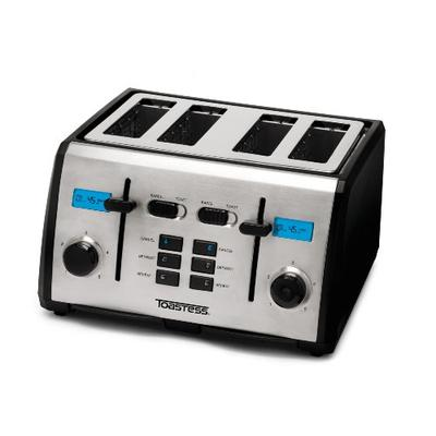 Toastess TT-522 4-Slice Toaster with Digital Countdown Timer