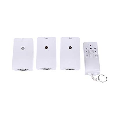 Woods 13569 13569WD Indoor Wireless Remote Kit up to 66 ft. Range, Ideal for Holiday Decorations, Works Through Walls Windows and Doors, Controls up to 3 Devices, 3-Outlet Pack, White/Orange