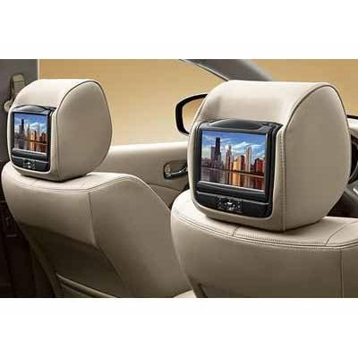 Genuine Nissan Accessories 999U8-CW300 Beige Dual Head Restraint DVD Monitor