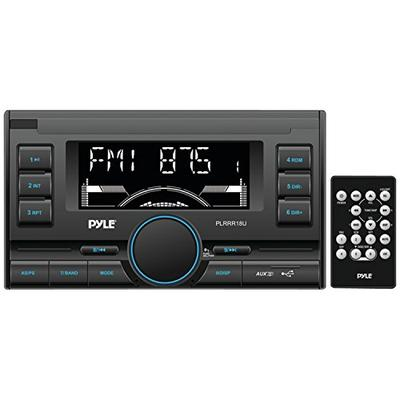 Pyle PLRRR18U Digital Receiver with USB/SD Memory Card Readers, AM/FM Radio, AUX Input, Remote Control, Double-DIN