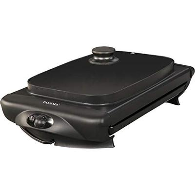 Tayama TG-821 Electric Griddle with Glass Cover, medium, Black
