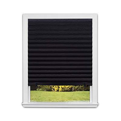 Redi Shade 1617201 Original Blackout Pleated Paper Shade, 36 in x 72 in, 6-Pack, Black