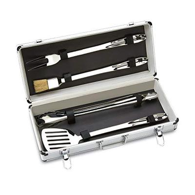 All-Clad Stainless Steel BBQ Tool Cookware Set, 4-Piece, Silver