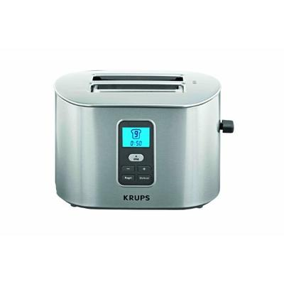 KRUPS TT6190 2-Slice Digital Toaster with Stainless Steel Housing, Silver