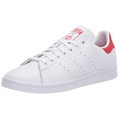 adidas Originals mens Stan Smith Sneaker, Footwear White Footwear White Lush Red, 5 US